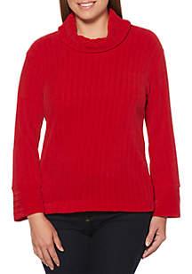 Chenille Cowl Neck Sweater