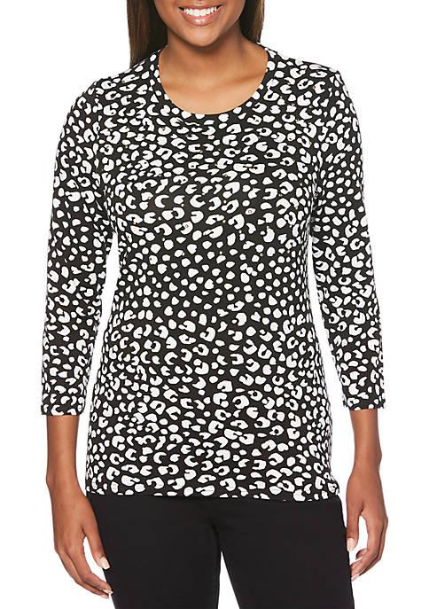 Leopard Modal Knit Top