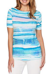 Watercolor Wave Tee