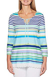 Embroidered Stripe Tunic