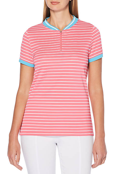 Rafaella Golf Stripe Printed Polo Tee