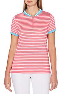 Golf Stripe Printed Polo Tee