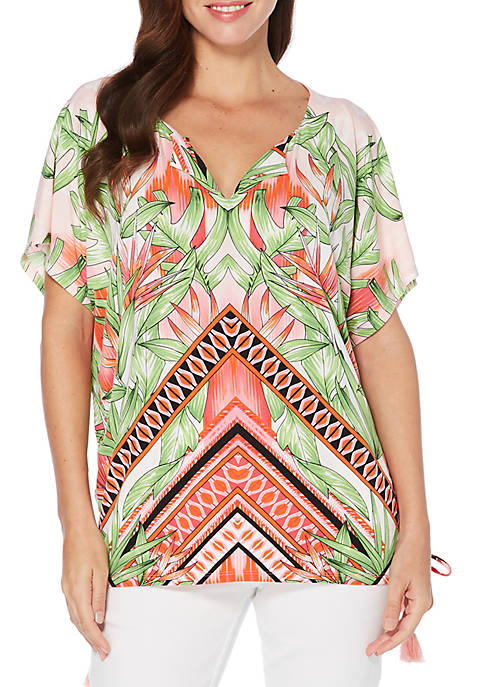 Rafaella Birds Of Paradise Tunic