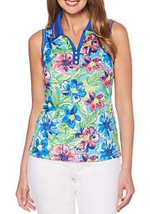 Sleeveless Printed Jersey Top