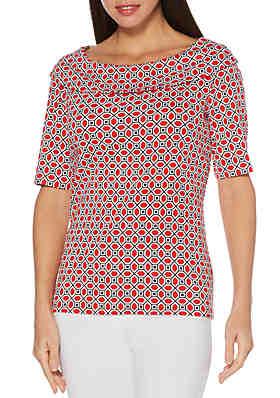 6bed288f1df52 Rafaella Mix Print Tunic Top · Rafaella Octagon Geo Print T Shirt ...