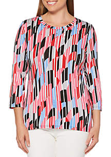 Rafaella Abstract Waves Modal Top