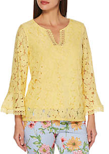 Rafaella Floral Lace Top