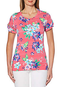 Rafaella Bright Blossoms Modal T Shirt