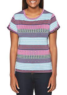 Rafaella Multi Geo Modal T Shirt