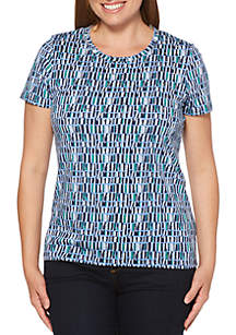 Rafaella Abstract Bricks Modal Tee