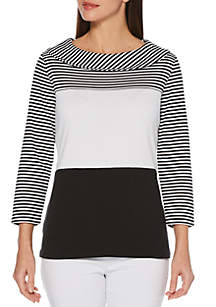 Rafaella Small Stripe T Shirt
