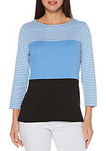 3e368305cb2 Rafaella Studded Cardigan · Rafaella Small Stripe T Shirt