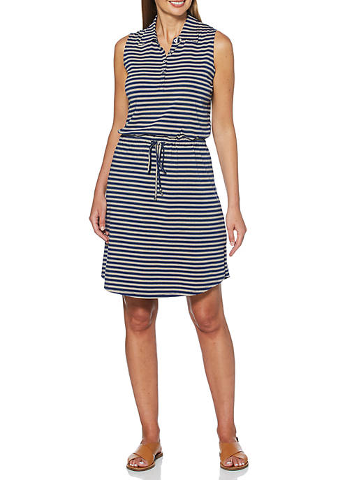 Yarn Dye Stripe Knit Dress