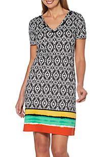 Rafaella Printed Knit Dress