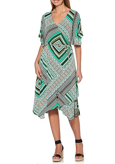 Rafaella Printed Knit Wrap Dress