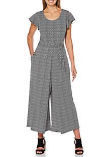 Rafaella Short Sleeve Jumpsuit