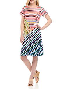 Rafaella Stripe Modal Dress