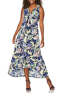 Rafaella Paradise Floral High Low Dress