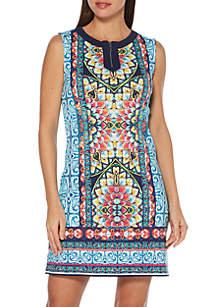 fa31aee5950e Rafaella Plus Size Satin Twill Capris · Rafaella Tile Placement Mini Dress
