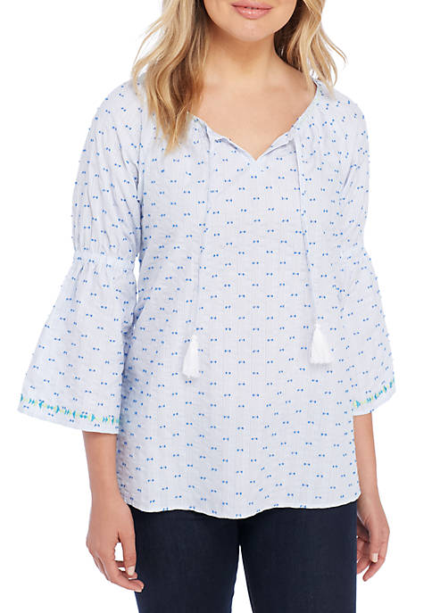 Rafaella Embroidered Peasant Blouse