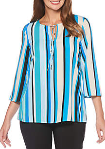 Mixed Stripe Blouse