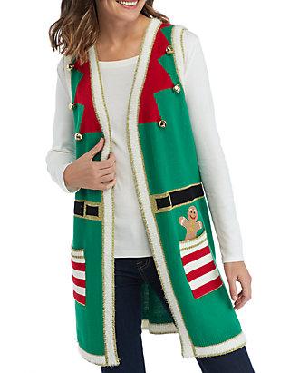 Christmas Vest.Elf Christmas Vest