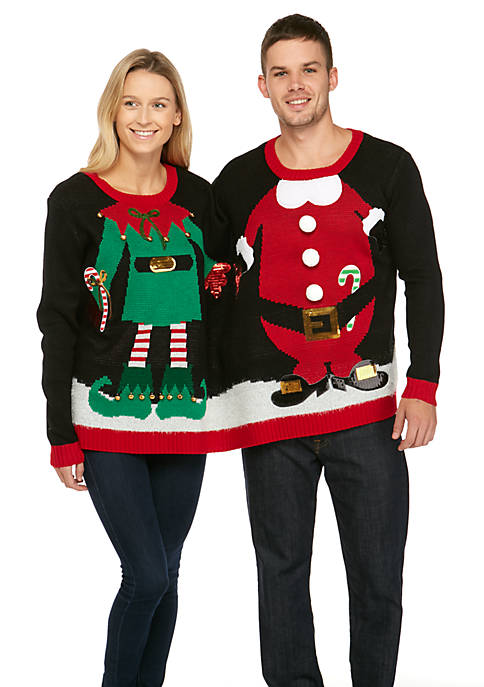 Long Sleeve Two Person Christmas Sweater