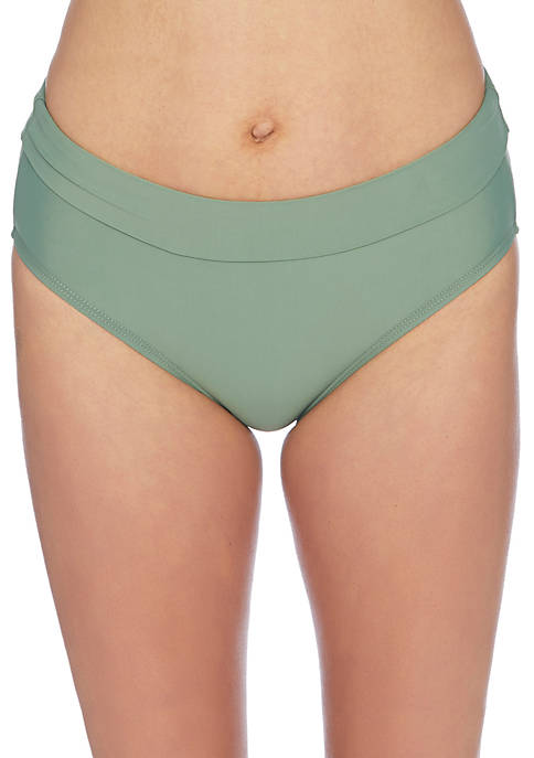 Athena Soft Band Mid Waist Swim Bottom