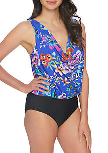 Athena Mexicana Floral Tummy Control One-Piece Swimsuit