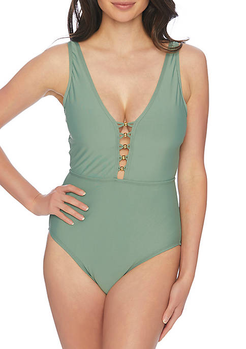 V-Neck Maillot Swim One Piece