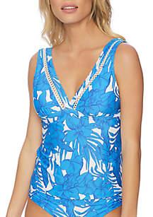 Athena Waimea Bay Molded Cup Halter Swimsuit Tankini Top