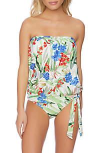 Athena Hana Botanica Blouson Tankini Swim Top