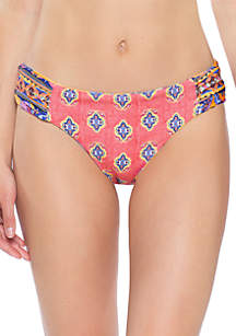 Becca Tapesty Bloom Reversible Hipster Swim Bottoms