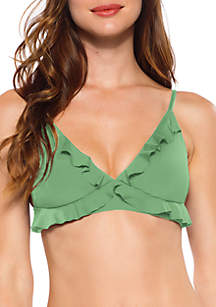 Becca Socialite Ruffled Bikini Swim Top