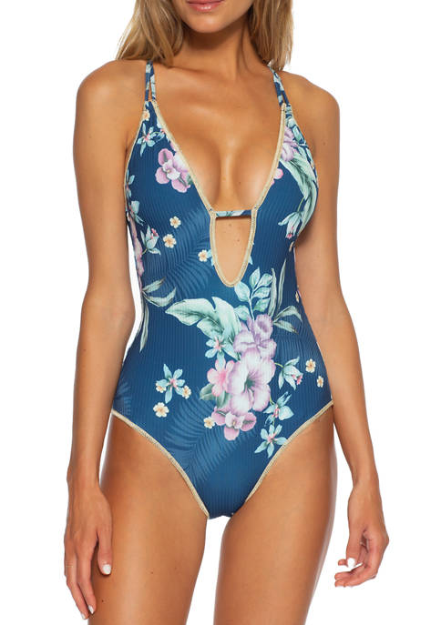 Costa Rica Plunge Front One Piece Swimsuit