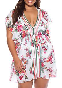 Becca Plus Size Emma Chiffon Cover Up