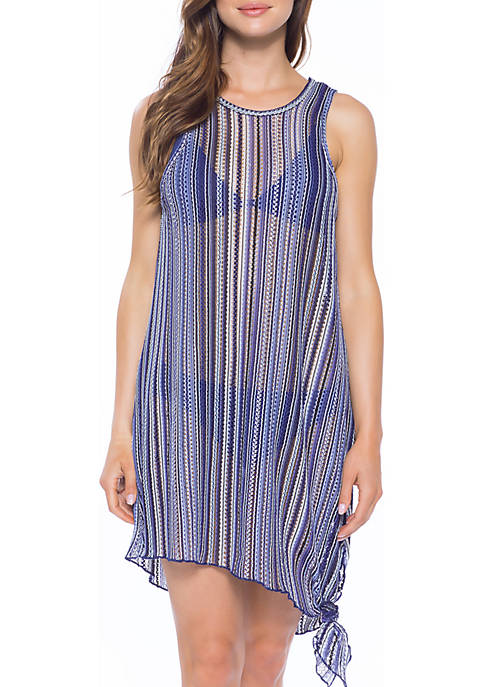 Becca Pierside High Neck Swim Cover Up Dress