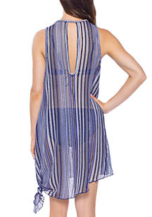 3b577136199a7 ... Becca Pierside High Neck Swim Cover Up Dress