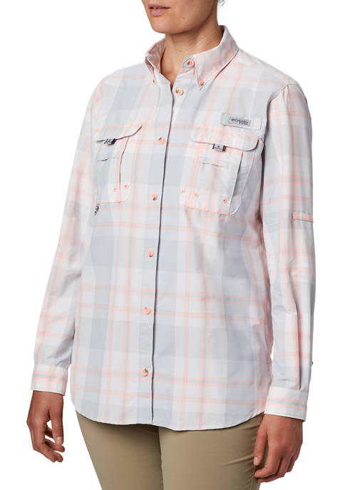 Columbia PFG Super Bahama Long Sleeve Plaid Shirt