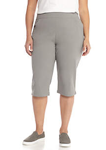 Plus Size Anytime Casual Capri