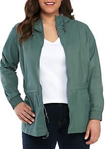 Columbia Plus Size Proxy Falls Rain Jacket