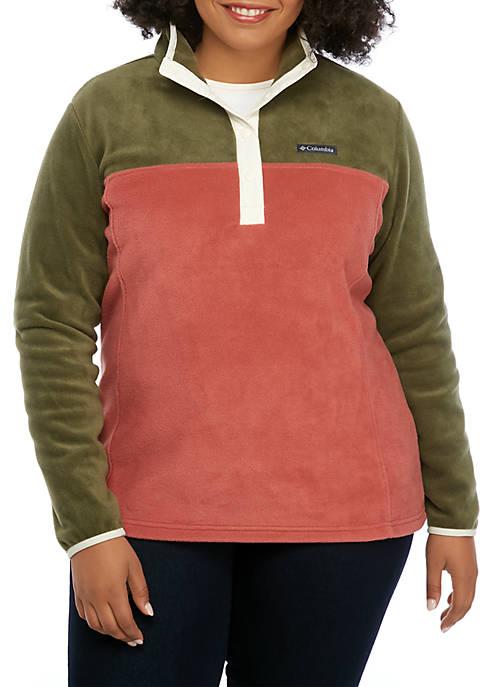 Plus Size Benton Springs™ Half Snap Pullover