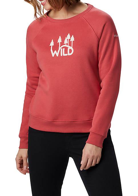 Columbia Plus Size Hart Mountain™ Graphic Crew Sweatshirt
