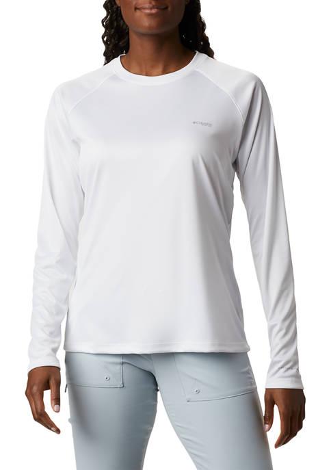 Womens Long Sleeve PFG Tidal Fish Flag T-Shirt