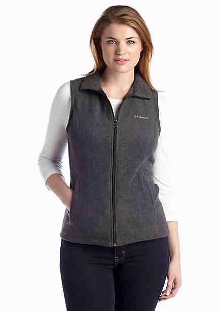 Just My Size Womens Plus-Size Plusmock Neck Full-Zip Vest