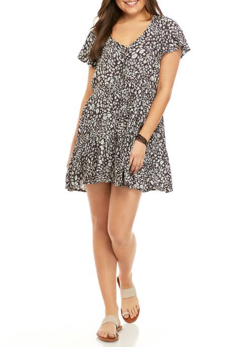 TRUE CRAFT Juniors Printed Casual Dress