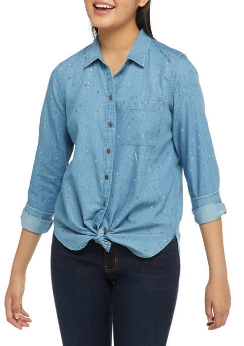 Red Camel® Long Sleeve Button Down Shirt