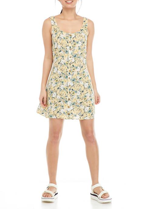 TRUE CRAFT Juniors Sleeveless Button Front Skater Dress