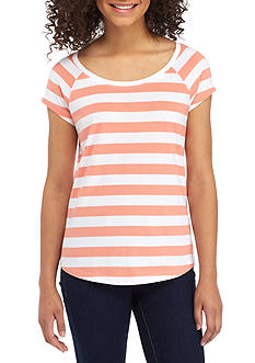 Red Camel® Watercolor Stripe Favorite Fit Tee