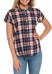 TRUE CRAFT Short Sleeve Pocket Front Shirt